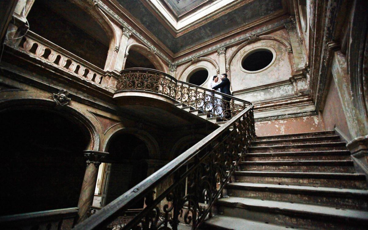 Plener poślubny - Pałac w Krowiarkach