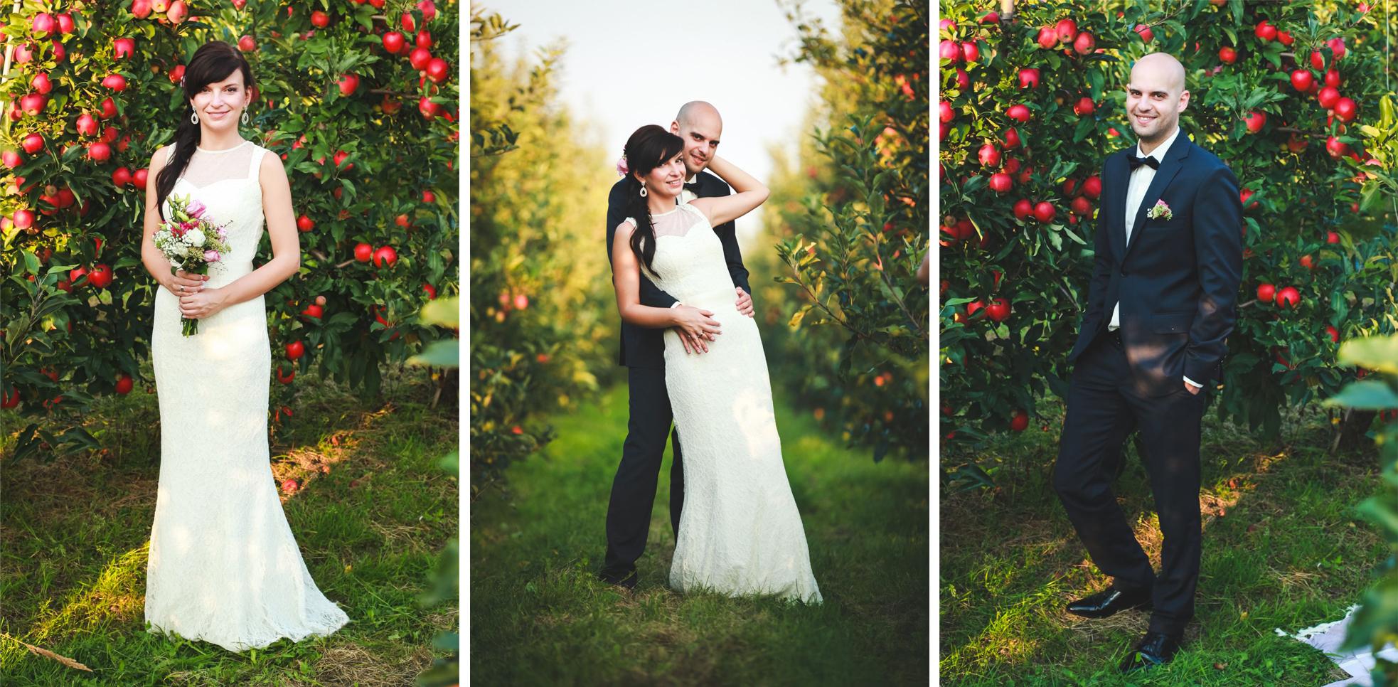 Fotograf ślubny Katowice plener poslubny w sadzie