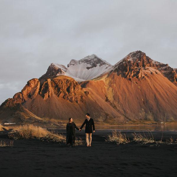 Marta i Marcin - plener poślubny na Islandii
